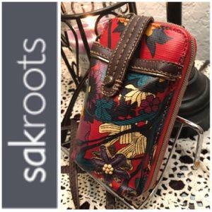 SAKROOTS WRISTLET/WALLET/CROSSBODY BAG